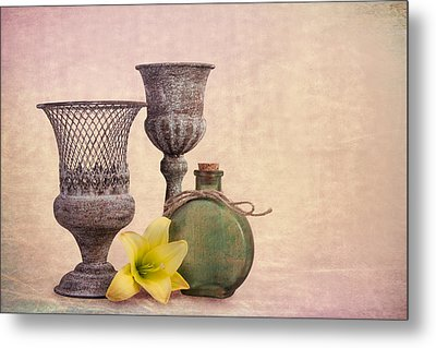 Still Life With Yellow Lily Metal Print by Tom Mc Nemar