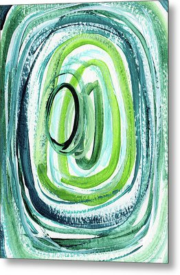 Still Orbit 9- Abstract Art By Linda Woods Metal Print by Linda Woods