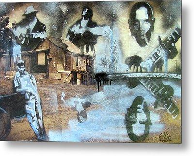 Still Raining Blues Metal Print by Scott Perry and Robert Wolverton Jr