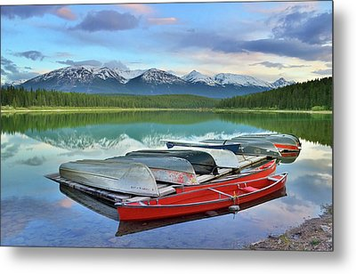 Metal Print featuring the photograph Still Waters At Lake Patricia by Tara Turner