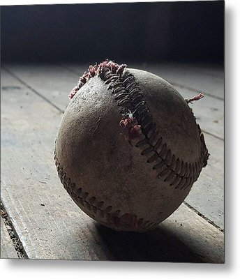 Baseball Still Life Metal Print by Andrew Pacheco