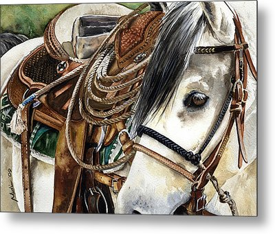 Stirrup Up Metal Print
