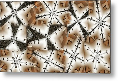 Stitched 3 Metal Print by Ron Bissett
