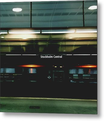 Stockholm Central- Photograph By Linda Woods Metal Print by Linda Woods