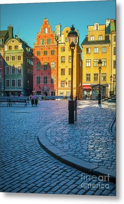 Stockholm Stortorget Square Metal Print