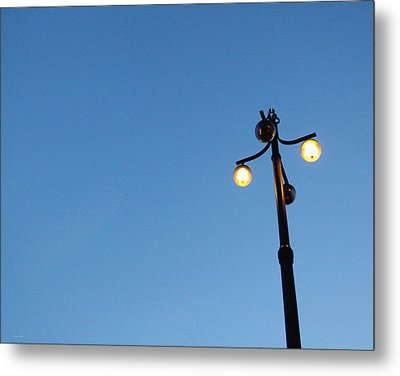 Stockholm Street Lamp Metal Print by Linda Woods