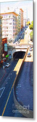 Stockton Street Tunnel In Heavy Shadow . Long Version Metal Print by Wingsdomain Art and Photography