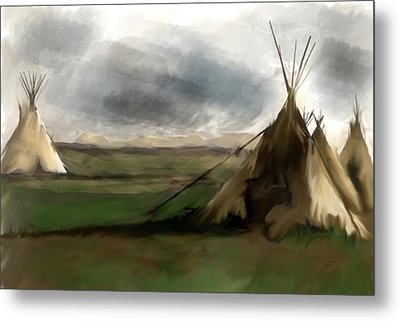 Stolen Spirit  Metal Print by Iconic Images Art Gallery David Pucciarelli