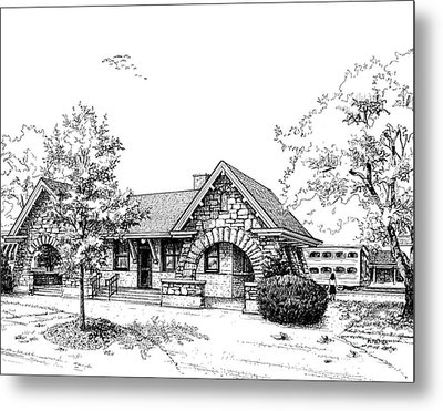 Stone Ave. Train Station Metal Print by Mary Palmer