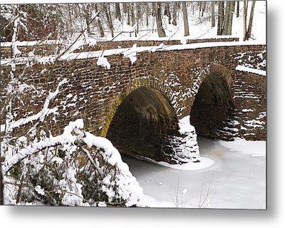 Stone Bridge At Bullrun Virginia Metal Print by Heidi Poulin