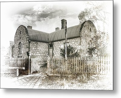 Metal Print featuring the photograph Stone Cottage by Wayne Sherriff