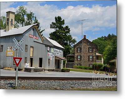 Stone House And Old Feed Mill Metal Print by Bob Sample