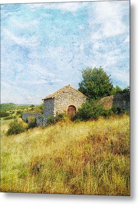 Provence Countryside Metal Print