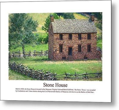 Stone House Metal Print