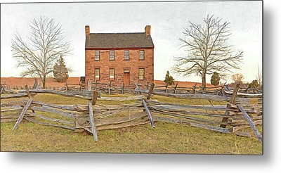 Stone House / Manassas National Battlefield / Winter Morning Metal Print by Digital Photographic Arts