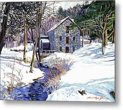 Stone Mill Metal Print by David Lloyd Glover