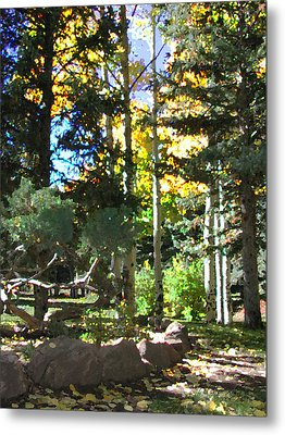 Stone Park Trails Metal Print