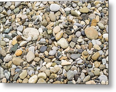 Metal Print featuring the photograph Stone Pebbles Patterns by John Williams