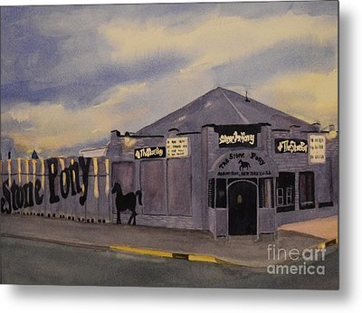 Stone Pony Metal Print by Katerina Yager