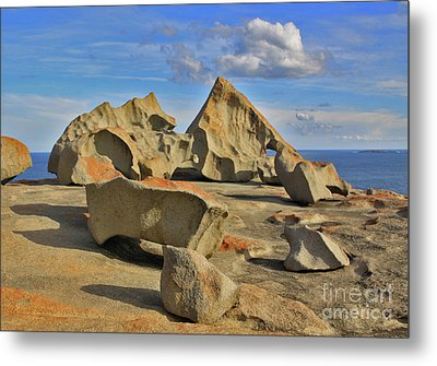 Stone Sculpture Metal Print by Stephen Mitchell