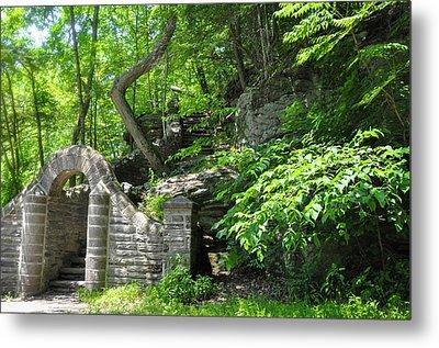 Stone Stairway Along The Wissahickon Creek Metal Print