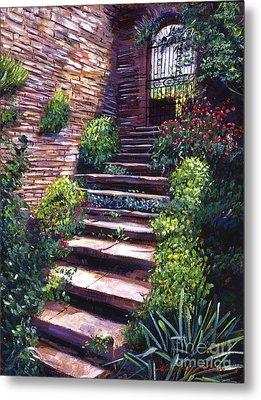 Stone Steps Tuscany Metal Print by David Lloyd Glover