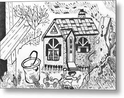 Stonegate Cottage Metal Print