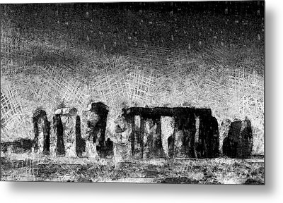 Stonehenge At Dusk Metal Print