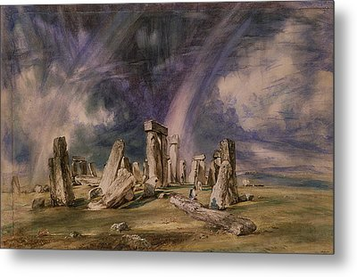 Stonehenge Metal Print by John Constable