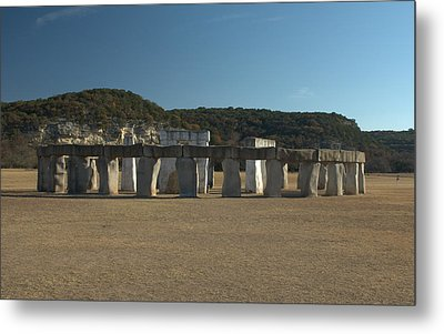 Metal Print featuring the photograph Stonehenge Two Texas by Karen Musick