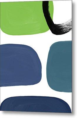Stones 7- Modern Art By Linda Woods Metal Print by Linda Woods