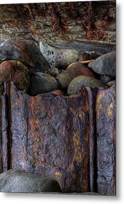 Metal Print featuring the photograph Rusted Stones 1 by Steve Siri