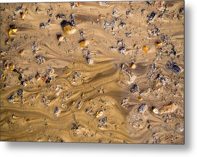 Metal Print featuring the photograph Stones In A Mud Water Wash by John Williams