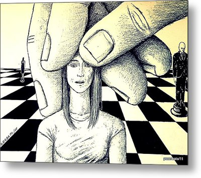 Stones In The Chessboard Of Life Metal Print by Paulo Zerbato