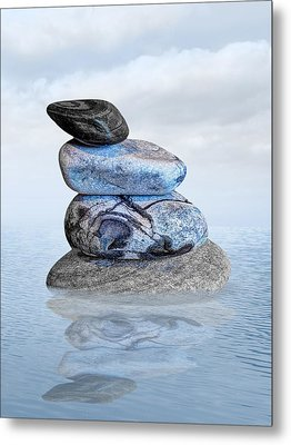 Stones In Water Metal Print