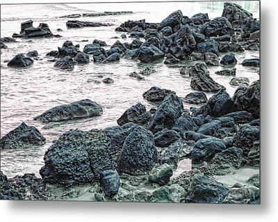 Stones On The Beach Metal Print