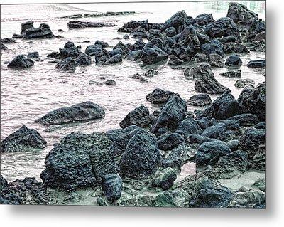 Stones On The Beach Metal Print by Angel Jesus De la Fuente