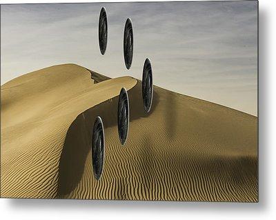 Stones Over Dunes One Metal Print
