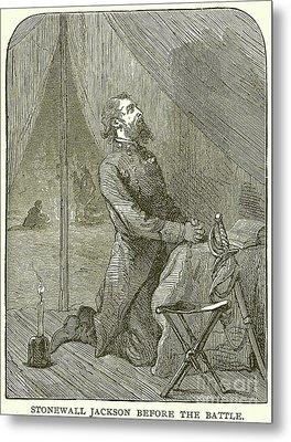 Stonewall Jackson Before The Battle Metal Print by English School