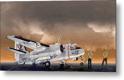 Stoof On Port Cat Metal Print by Mike Ray