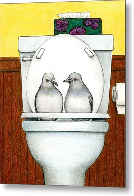 Stool Pigeon Metal Print by Don McMahon