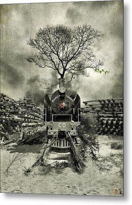 Stop Metal Print by Alexander Kruglov