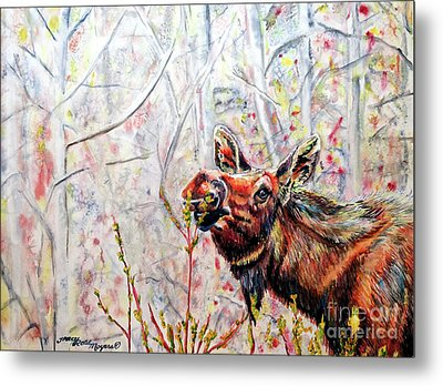 Stop To Smell The Weeds Metal Print by Tracy Rose Moyers