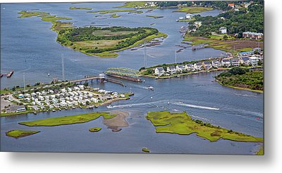 Stopping Traffic Topsail Island Metal Print by Betsy Knapp