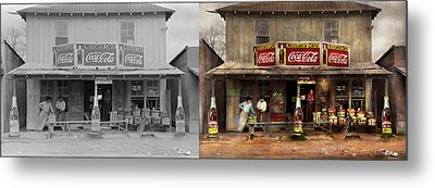 Metal Print featuring the photograph Store - Grocery - Mexicanita Cafe 1939 - Side By Side by Mike Savad