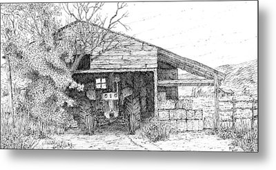 Stored Up Case Metal Print