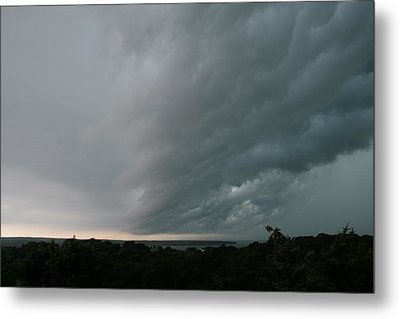 Storm Approaches Montauk Metal Print by Christopher Kirby