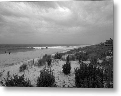 Storm Approaching - Jersey Shore Metal Print by Angie Tirado