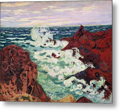 Storm At Agay Metal Print by Jean Baptiste Armand Guillaumin