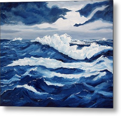 Storm At Sea Metal Print by Lorraine Foster